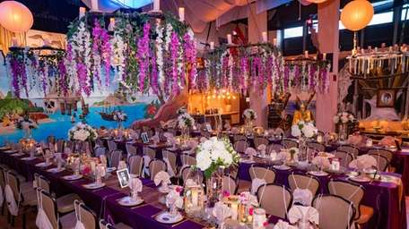 "The dining area at the""Peter Pan""-themed prom."