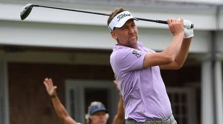 Ian Poulter on the 14th hole during the