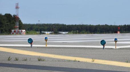 Long Island MacArthur Airport's main runway, seen here