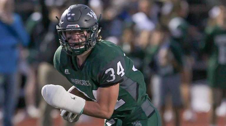 Westhampton's Liam McIntyre scores a touchdown in the