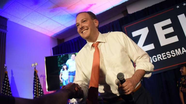 Republican supporters of Rep. Lee Zeldin kick off