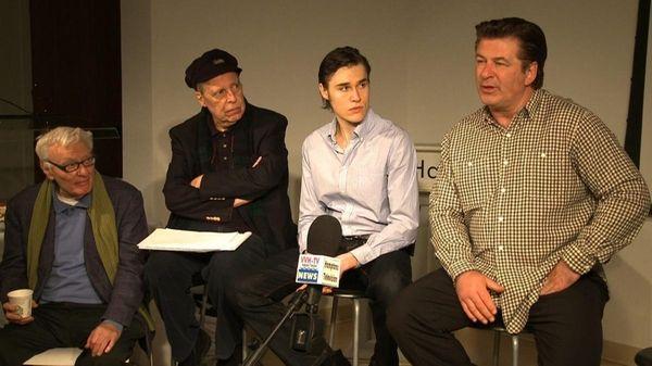 Playwright Sir Peter Shaffer, director Tony Walton, actor