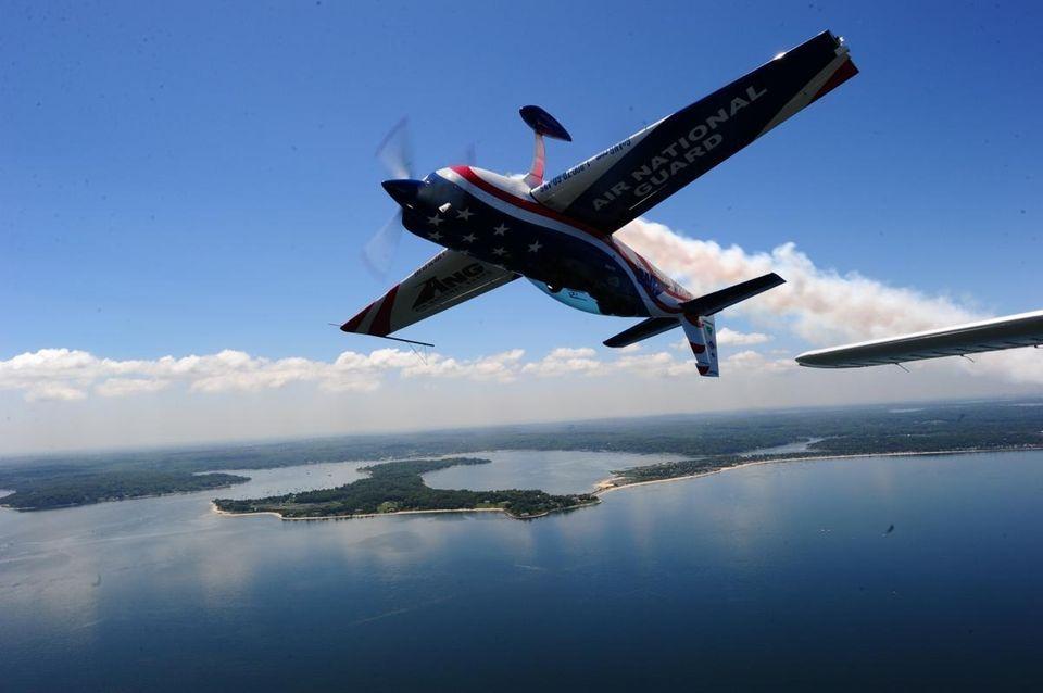 Air National Guard Lt. Col. John Klatt flies
