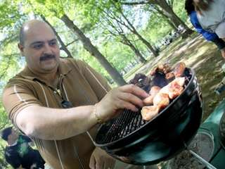 Anthony Maiorano of West Babylon cooks chicken wings