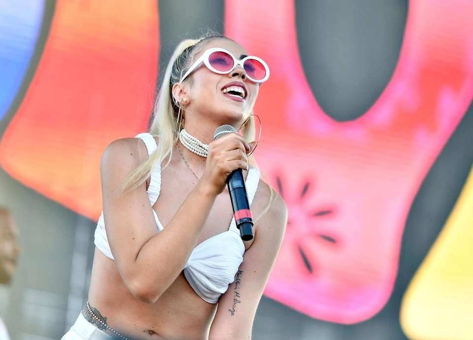 Kali Uchis performs on Camp Stage during day