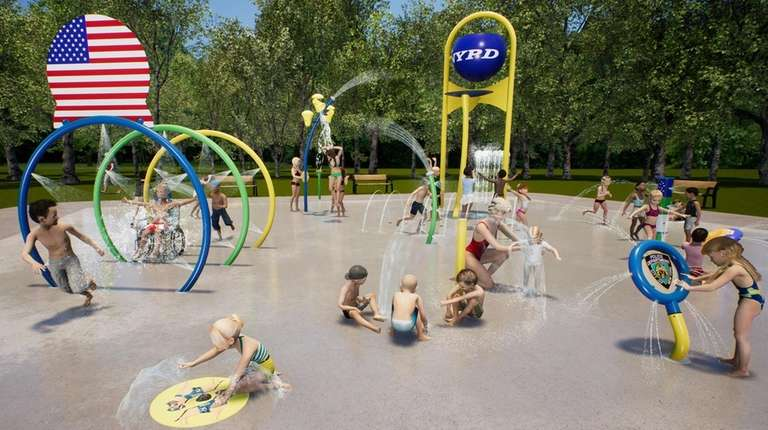 New spray park to open at Elwood Park | Newsday