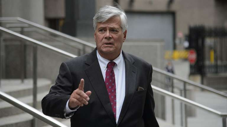 Dean Skelos is seen outside the federal courthouse