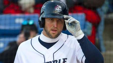 Tim Tebow, playing for the Binghamton Rumble Ponies,