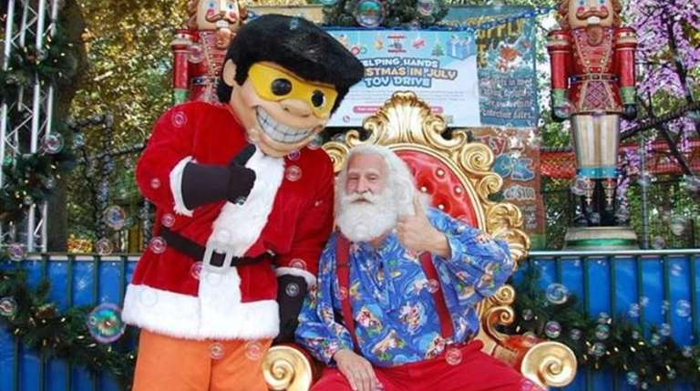 Kids can meet Santa during Christmas in July