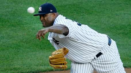 CC Sabathia pitches during third inning in win