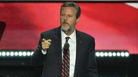 Evangelical Christian leader Jerry Falwell speaks at the
