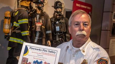 John Murray, chief instructor of Nassau County Firefighters