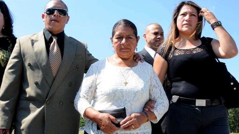Marcelo Lucero's brother, mother, and sister arrive at