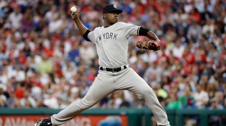 Yankees' Luis Severino pitches during the fourth inning