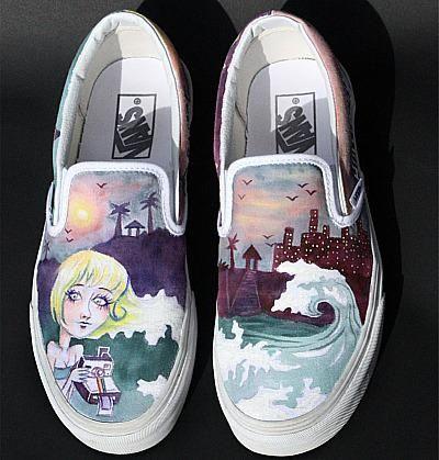 Shoes John F. Kennedy senior Kjersti Faret made