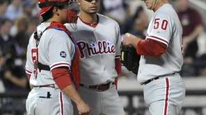 Phillies' catcher, Carlos Ruiz and shortstop, Juan Castro