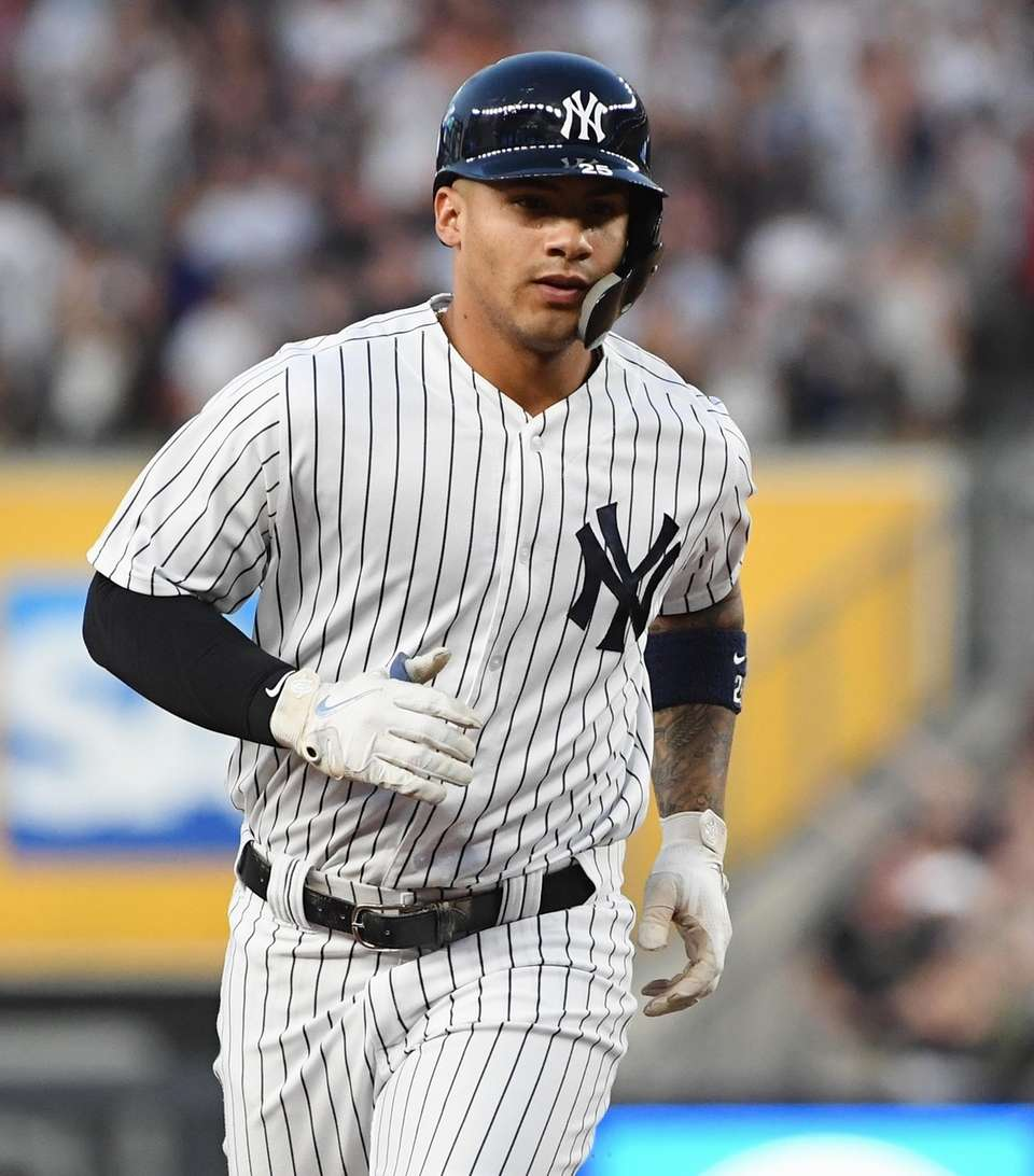 New York Yankees second baseman Gleyber Torres rounds