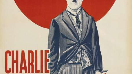 A poster of Charlie Chaplin is part of