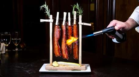 """Candied Bacon on a Clothesline"" as served at"