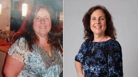 Mary Myer, 56, of Ronkonkoma, at left in