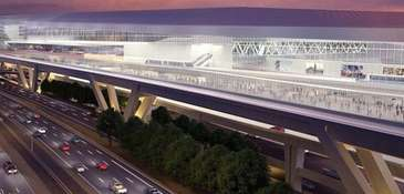 An illustration of the reconstructed LaGuardia Airport shows