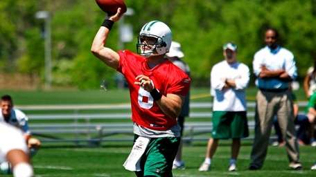 Mark Sanchez at the Jets' training facility on