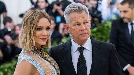 Katharine McPhee and David Foster attend the 2018