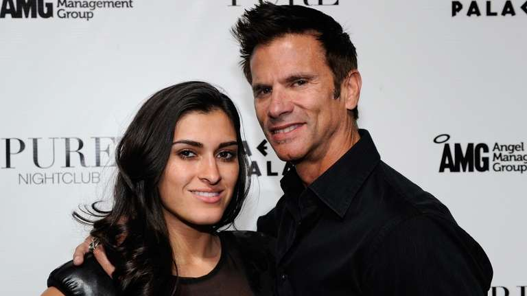 Shawna Craig and Lorenzo Lamas arrive at his