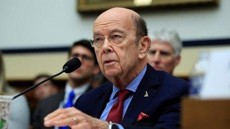 Commerce Secretary Wilbur Ross testifies on Capitol Hill