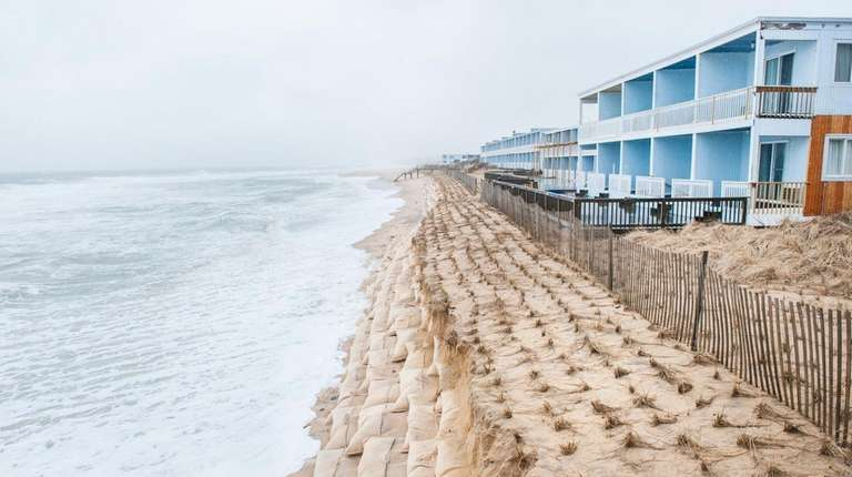 A powerful nor'easter in March battered an artificial