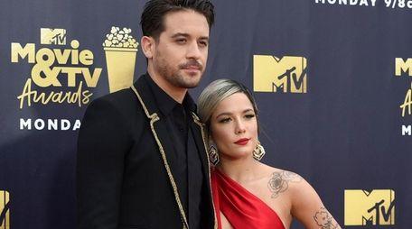 Rapper G-Eazy and singer Halsey attend the MTV