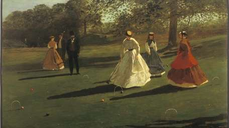 Croquet Players, 1865 by Winslow Homer and part