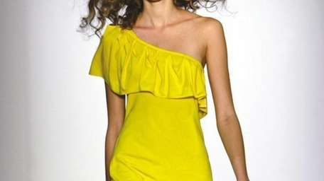 A yellow jersey dress by Luca Luca can