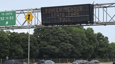 A sign on the Long Island Expressway near
