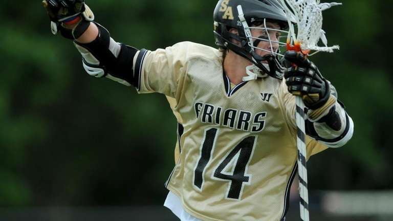 St. Anthony's senior attacker Colin Clive reacts after
