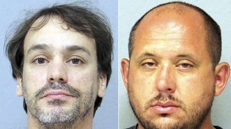James Pantina, left, of Bellmore, and Christopher Sanchez,