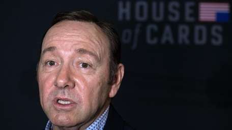 Kevin Spacey attends the season 4 premiere of