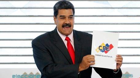 Venezuelan President Nicolas Maduro is seen May 22