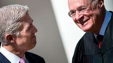 Neil Gorsuch, left, with Supreme Court Justice Anthony