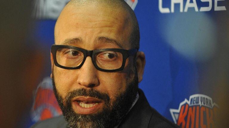 David Fizdale, New York Knicks Head Coach, speaks