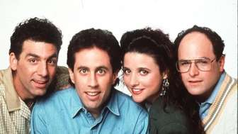 Michael Richards, Jerry Seinfeld, Julia Louis Dreyfuss and