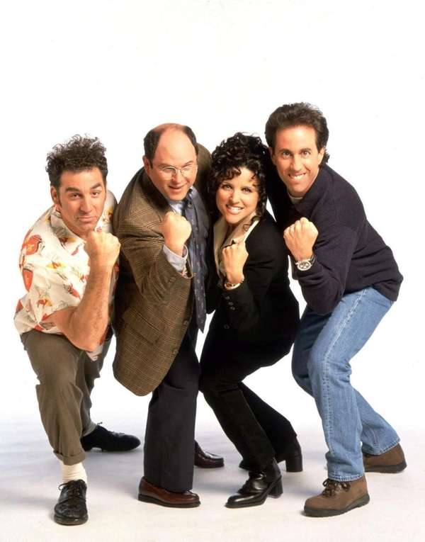 "The cast of NBC's ""Seinfeld,"" is shown in"
