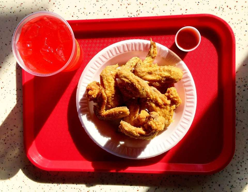 Fried chicken at Wings'n Things in Hempstead, Sunday,