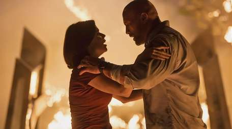 Neve Campbell and Dwayne Johnson are faced with