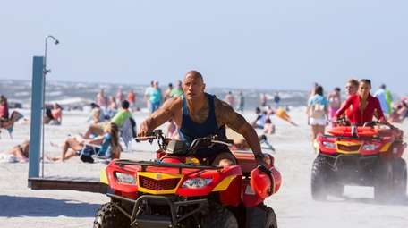 Dwayne Johnson raced to save lives in 2017's