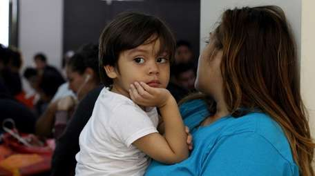 Katty Rodriguez and her 3-year-old son, Jose Luis,