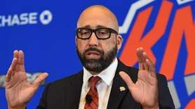Knicks new head coach David Fizdale answers questions