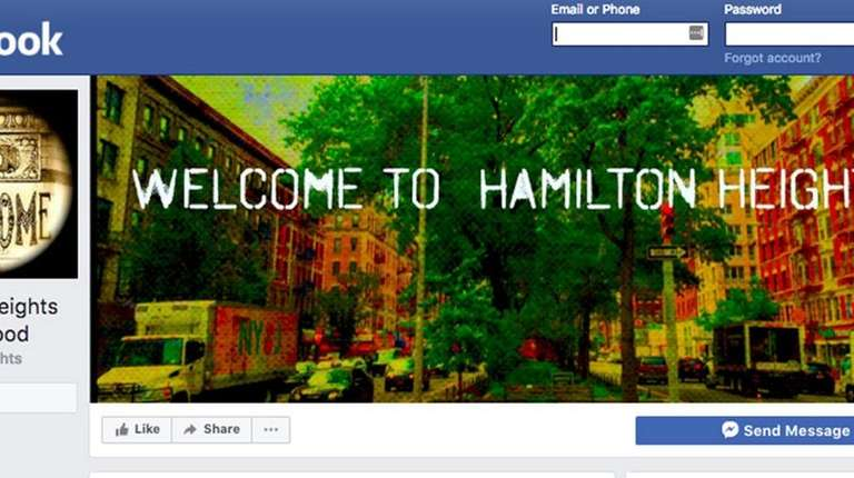 The Hamilton Heights' community Facebook page.