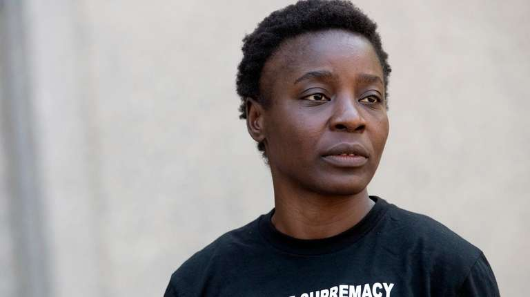 Therese Okoumou leaves Federal court, Thursday, July 5,