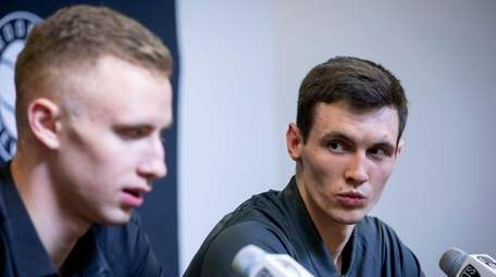 The Brooklyn Nets introduces Dzanan Musa and Rodions